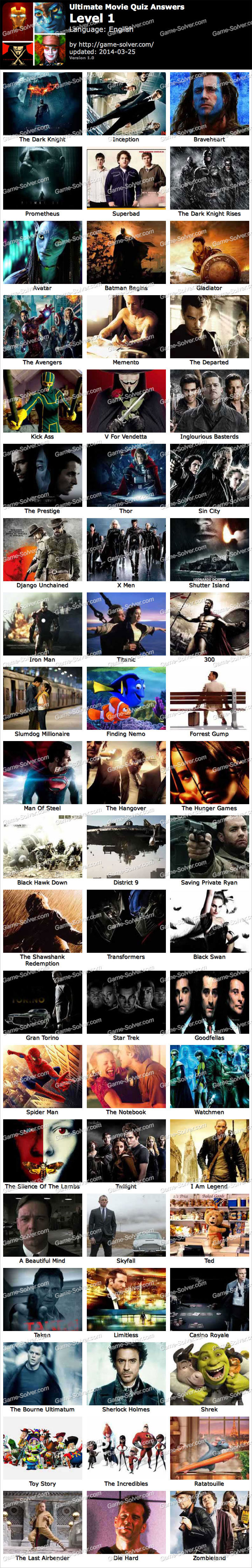 Ultimate Movie Quiz Level 1
