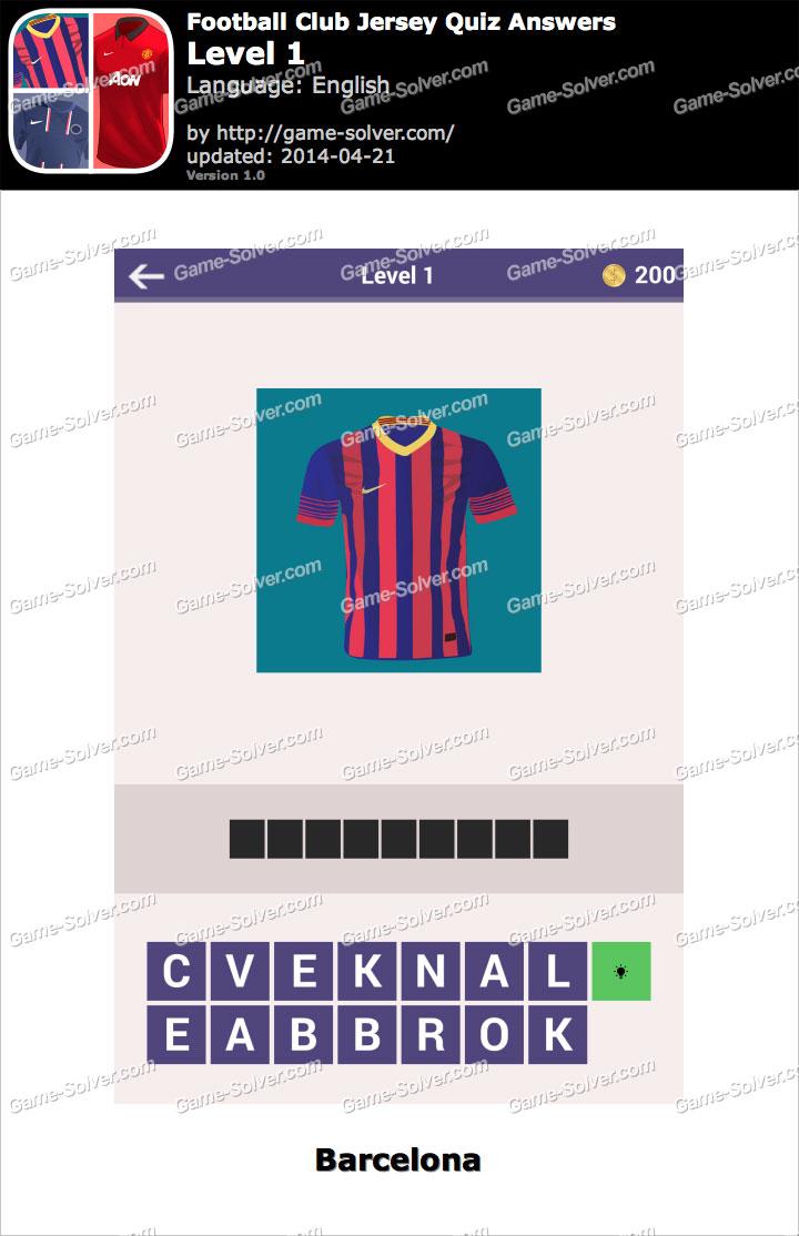 Football Clubs Jersey Quiz Level 1