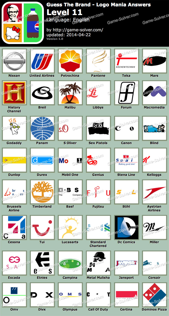 Guess The Brand Logo Mania Level 11