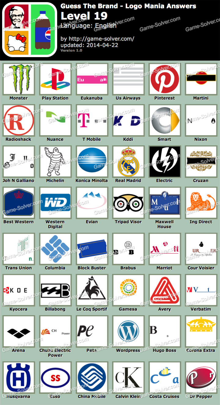 Guess The Brand Logo Mania Level 19