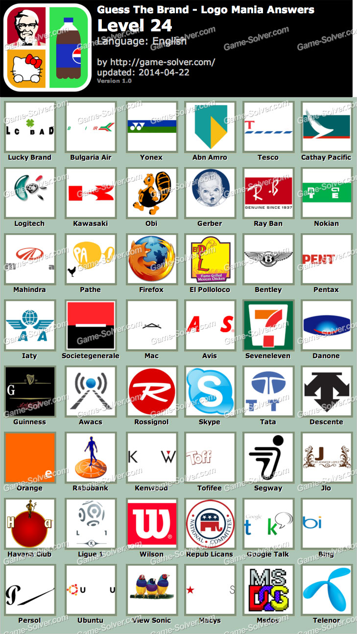 Guess The Brand Logo Mania Level 24