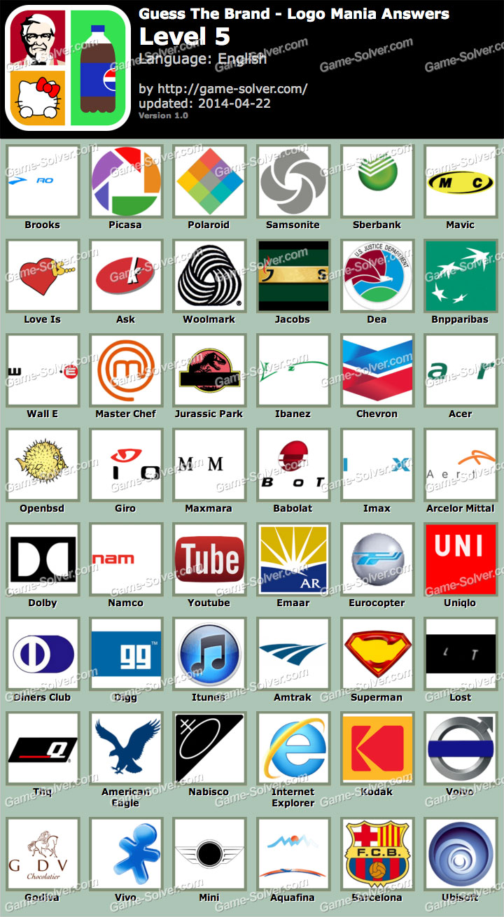 Guess The Brand Logo Mania Level 5