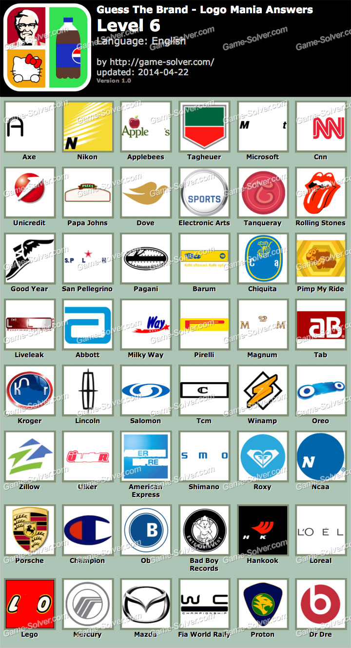 Guess The Brand Logo Mania Level 6