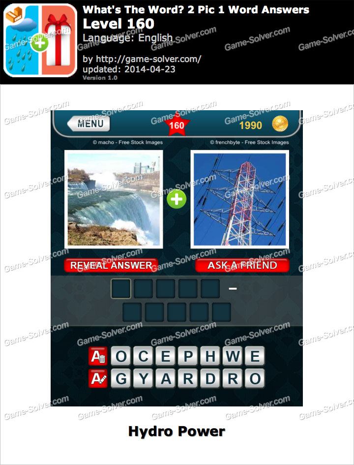 What's The Word 2 Pic 1 Word Level 160