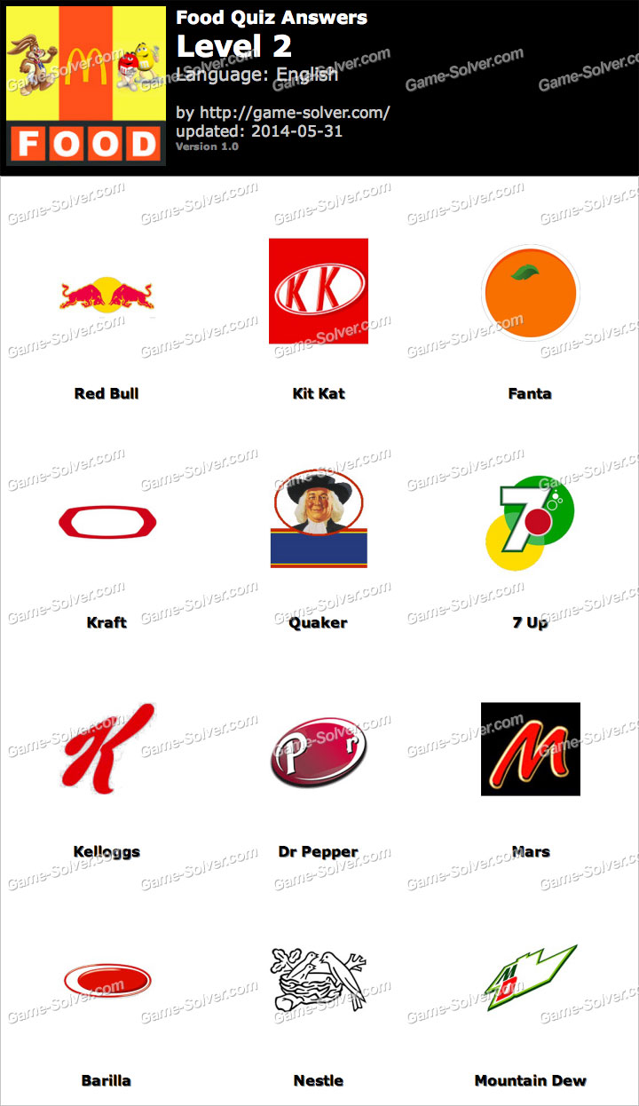 Foods Quiz Level 2