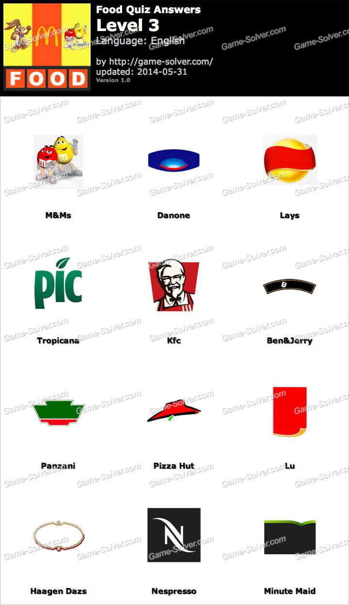 Foods Quiz Level 3