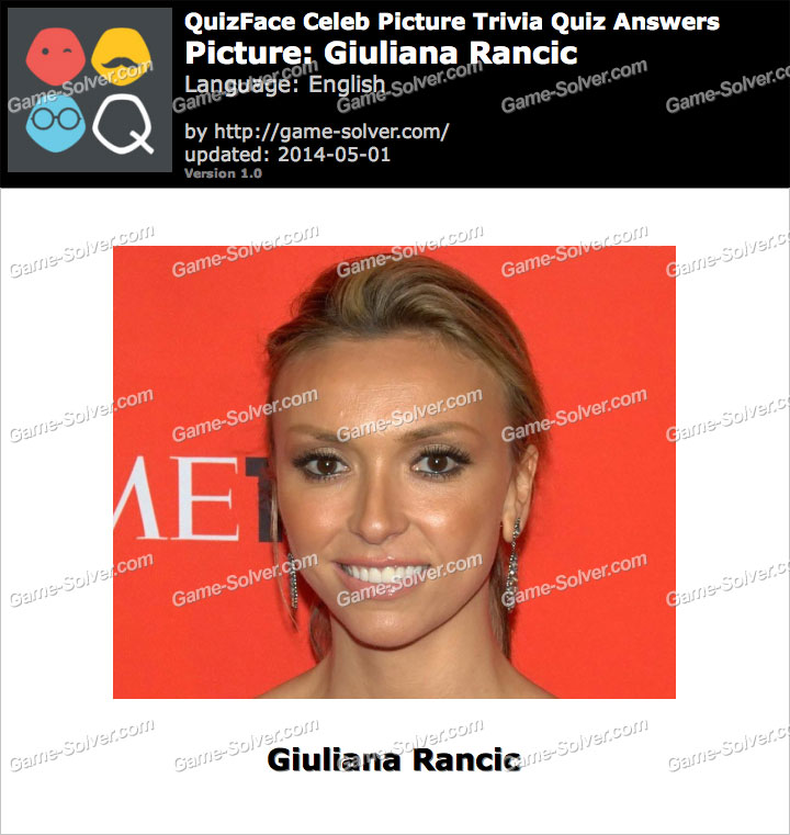 QuizFace Level Giuliana Rancic