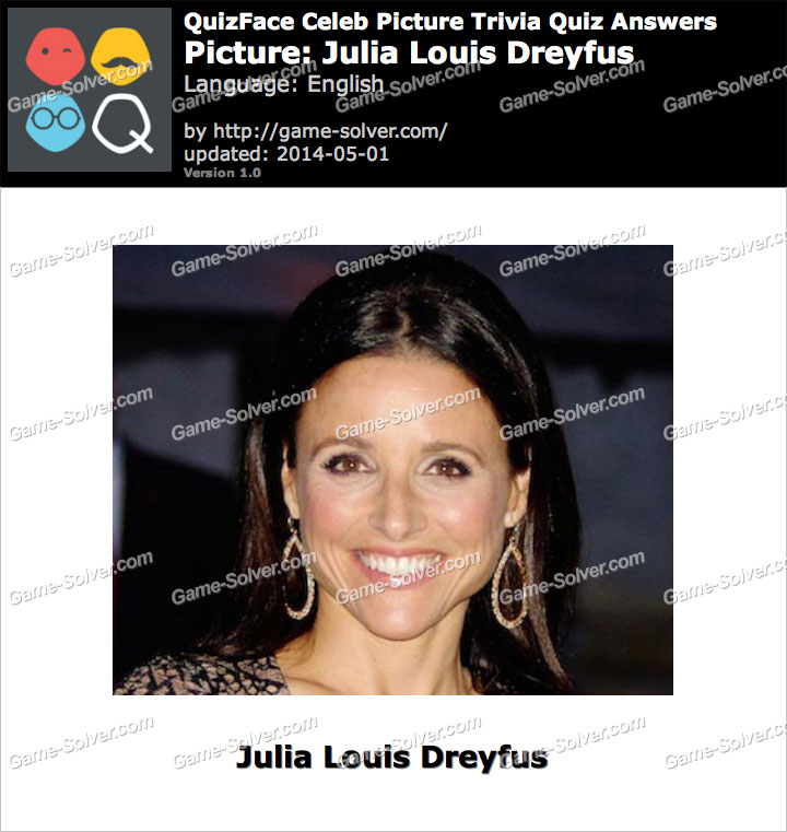 QuizFace Level Julia Louis Dreyfus