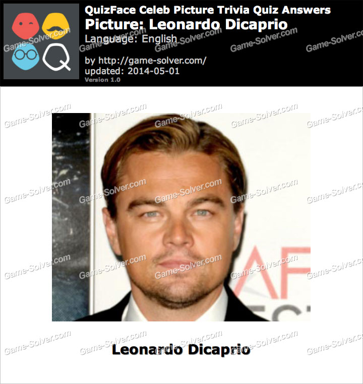 QuizFace Level Leonardo Dicaprio