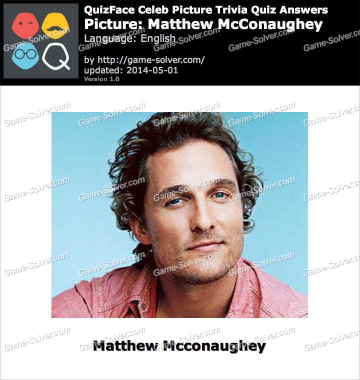 QuizFace Level Matthew McConaughey