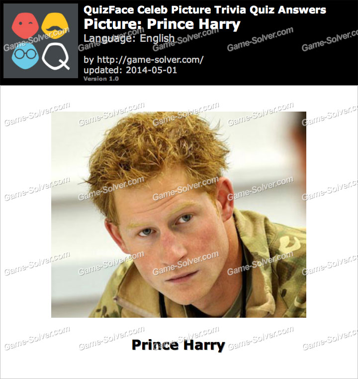 QuizFace Level Prince Harry