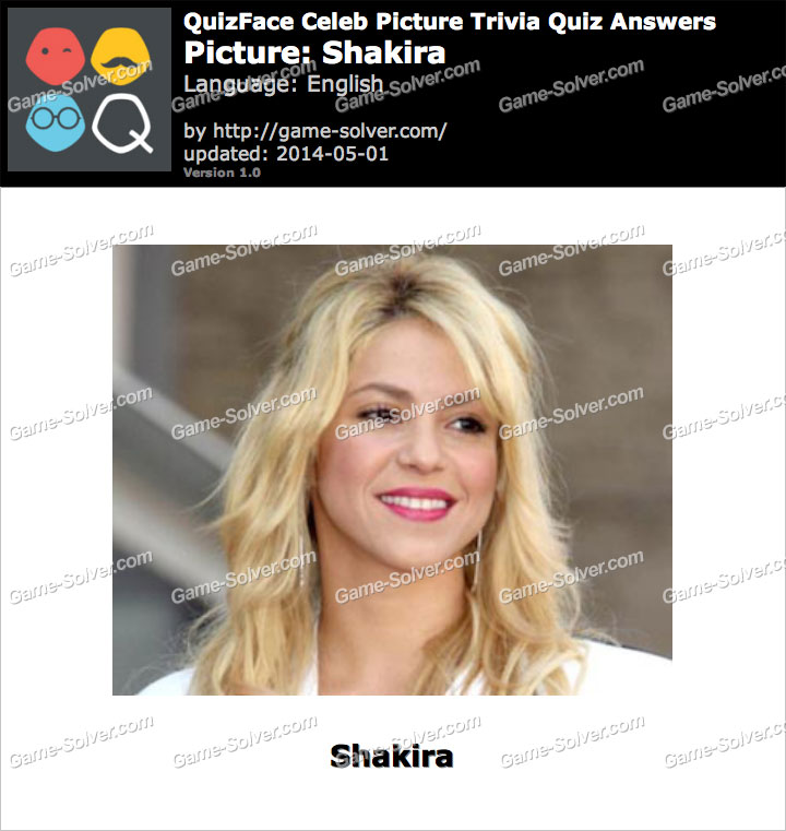 QuizFace Level Shakira