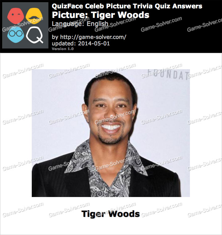 QuizFace Level Tiger Woods