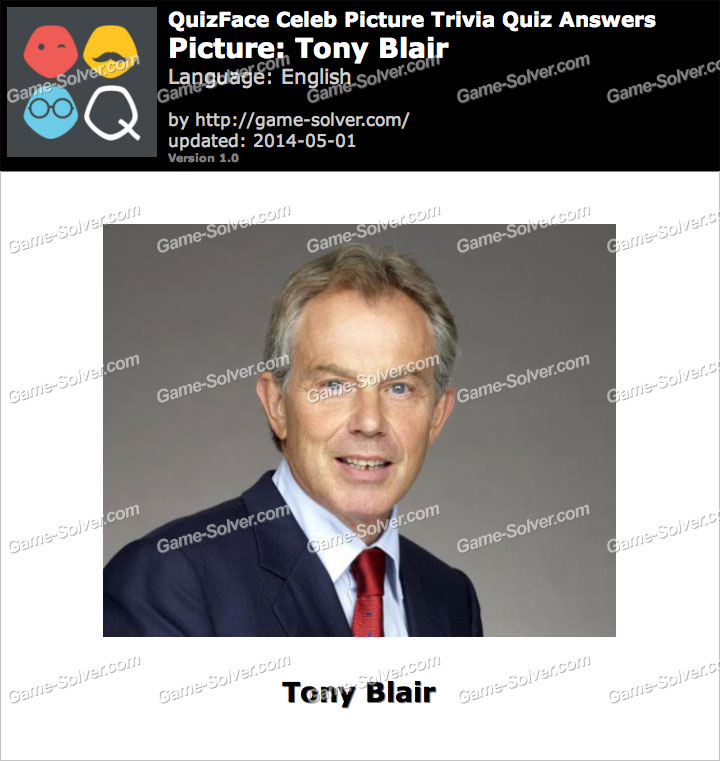 QuizFace Level Tony Blair