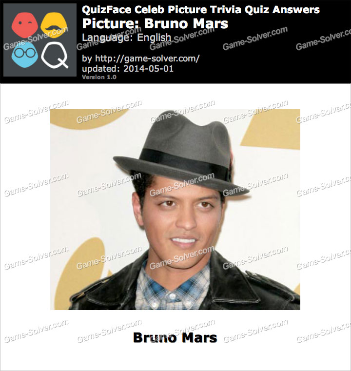 QuizFace Level Bruno Mars