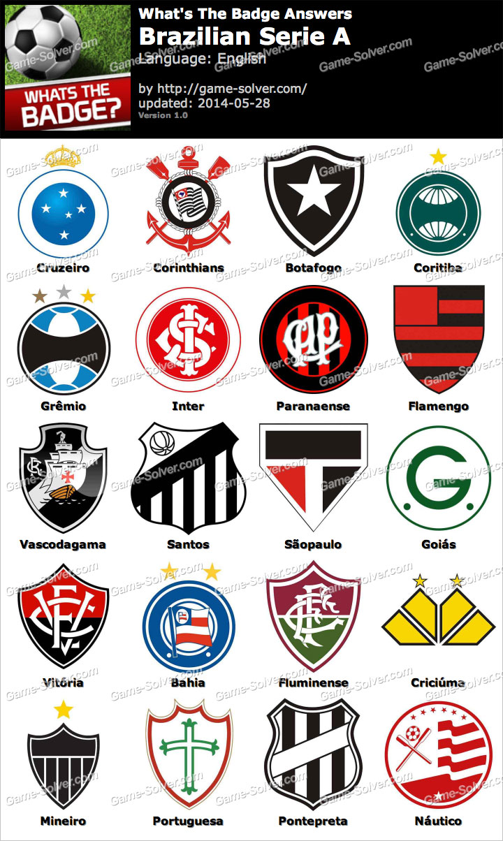 Whats The Badge Brazilian Serie A Answers