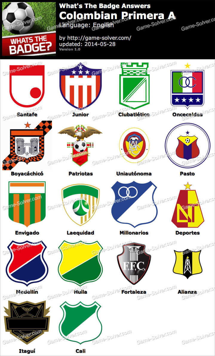 Whats The Badge Colombian Primera A Answers