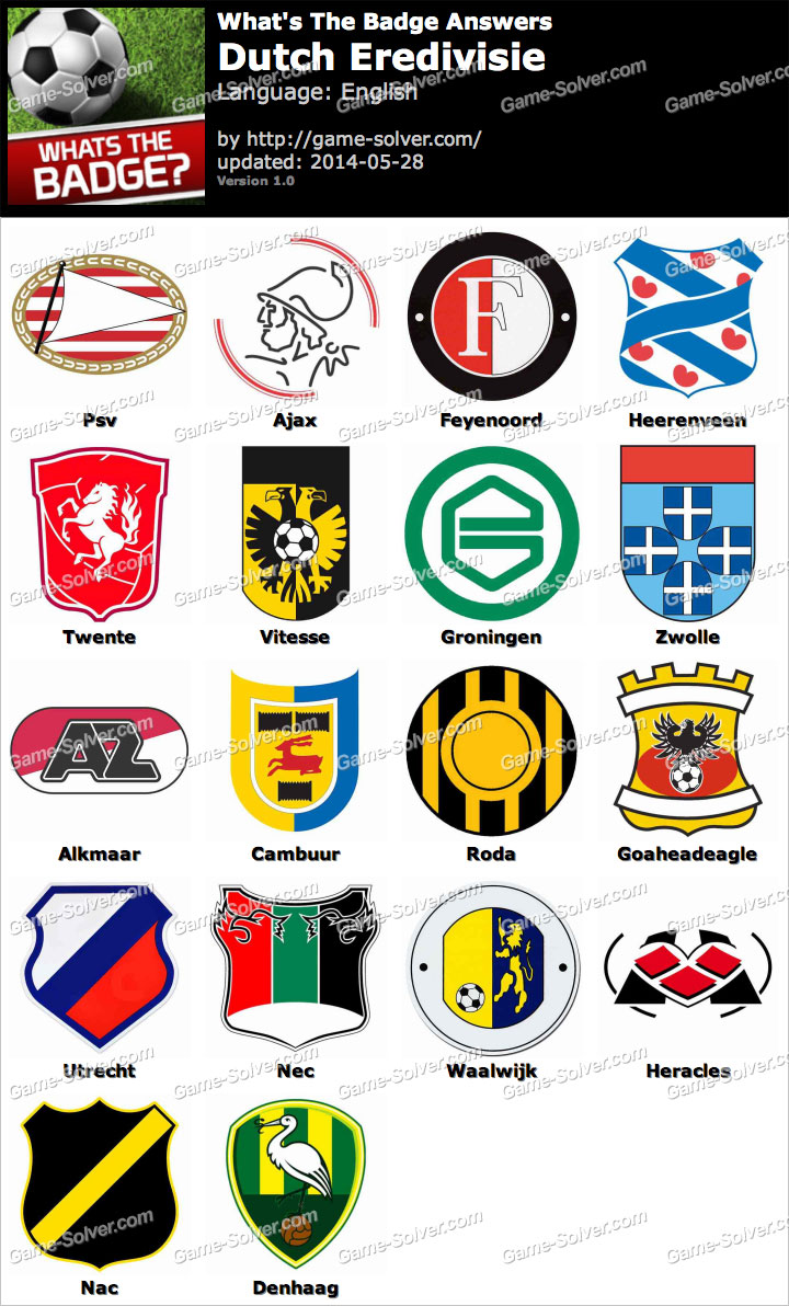 Whats The Badge Dutch Eredivisie Answers