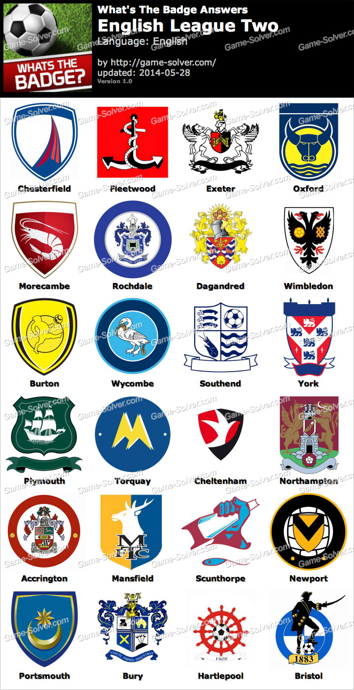 Whats The Badge English League Two Answers