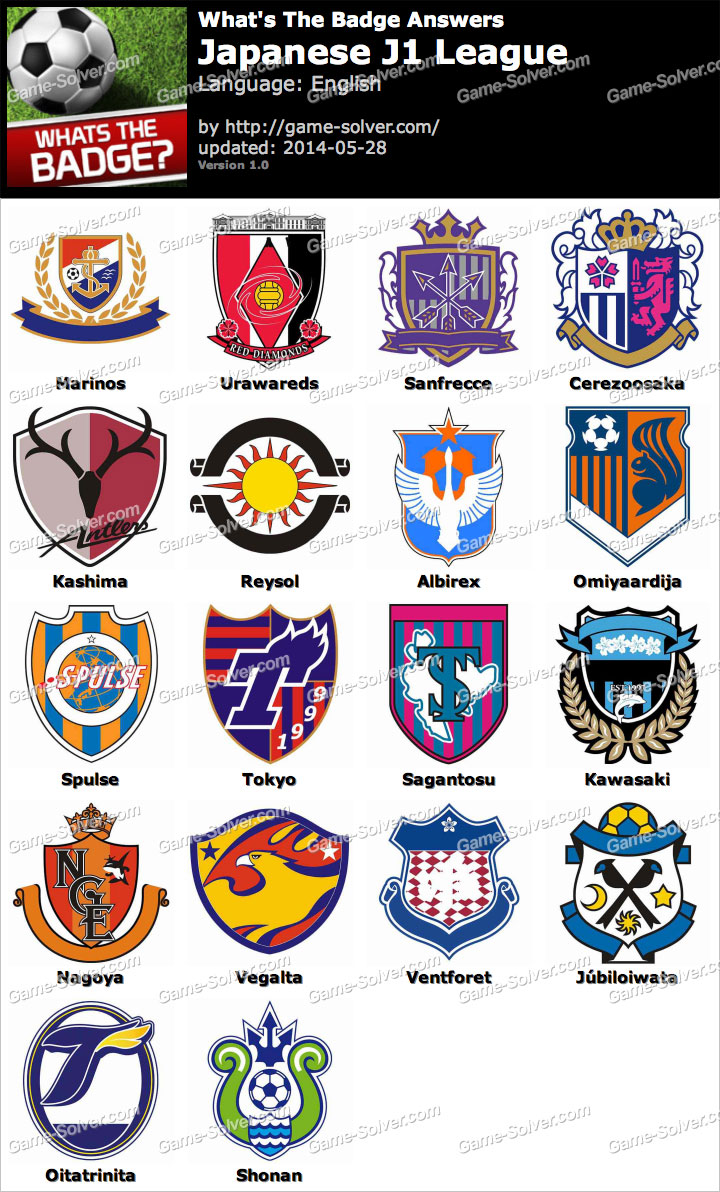 Whats The Badge Japanese J1 League Answers