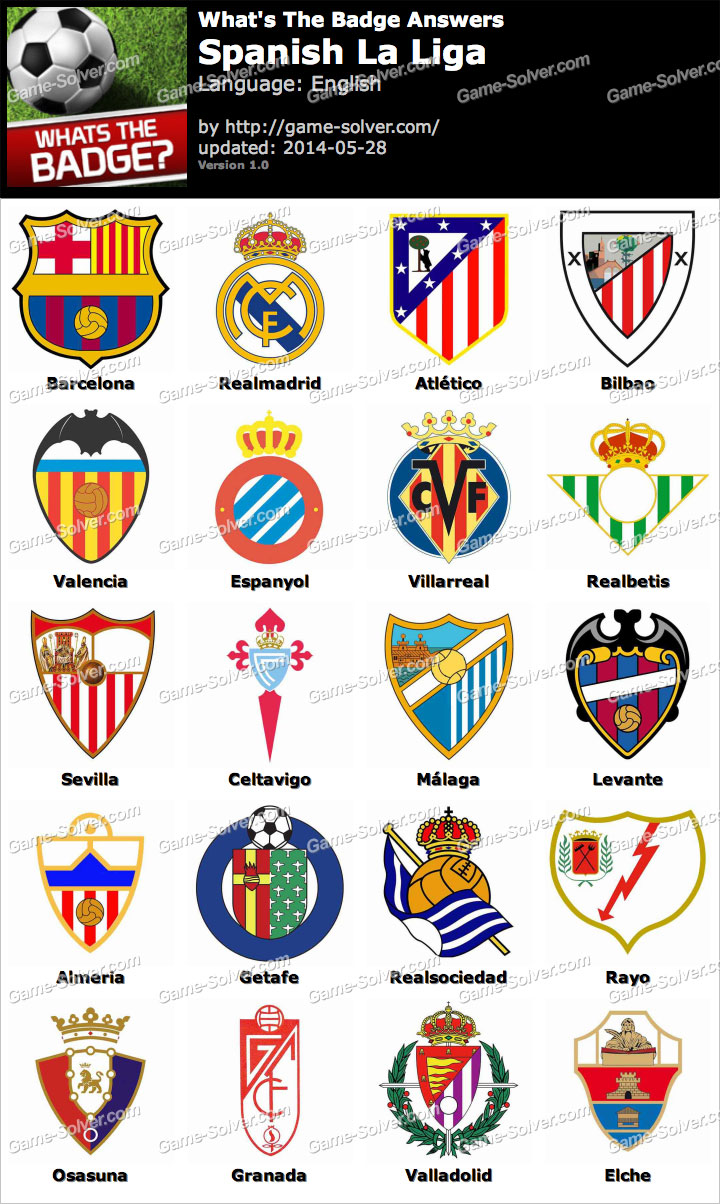 Whats The Badge Spanish La Liga Answers