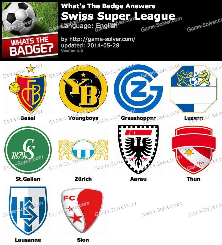 Whats The Badge Swiss Super League Answers