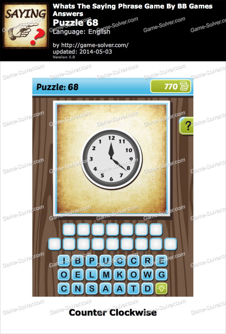 What's The Saying Phrase Game Puzzle 68
