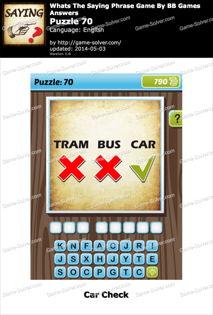 What's The Saying Phrase Game Puzzle 70