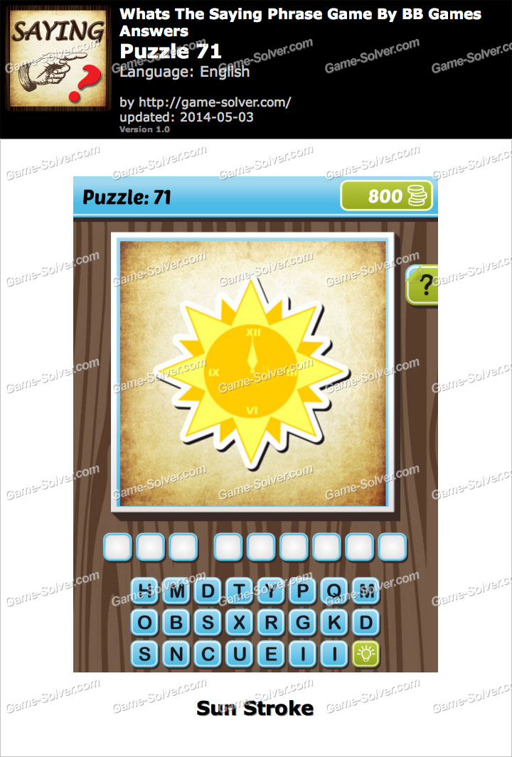 What's The Saying Phrase Game Puzzle 71