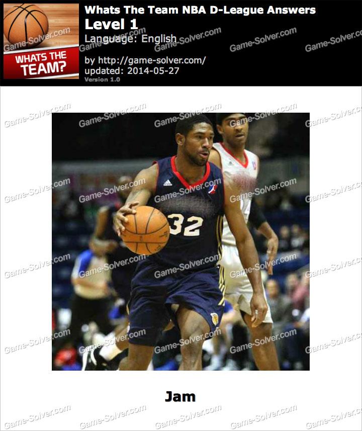 Whats The Team NBA D-League Level 1