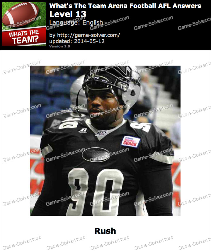 What's The Team Arena Football AFL Level 13