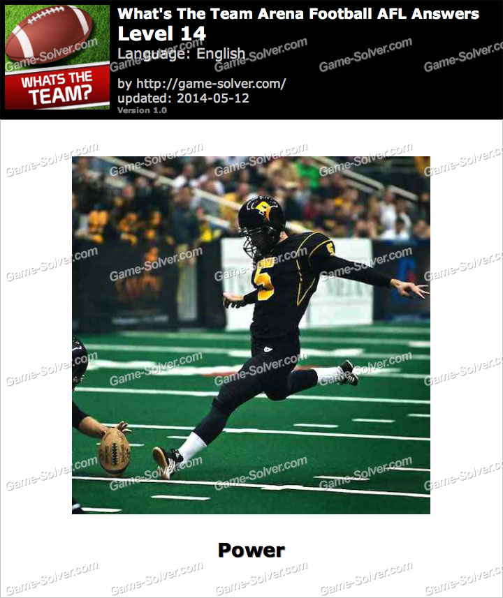 What's The Team Arena Football AFL Level 14