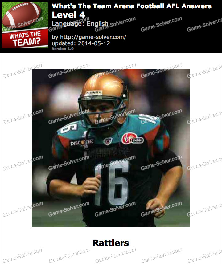What's The Team Arena Football AFL Level 4