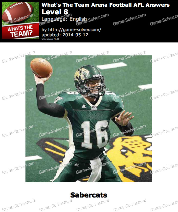 What's The Team Arena Football AFL Level 8