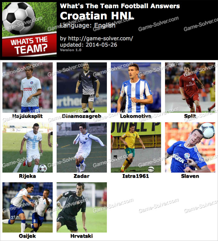 What's The Team Croatian HNL Answers