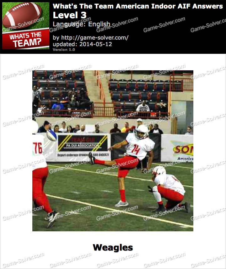 What's The Team American Indoor AIF Level 3