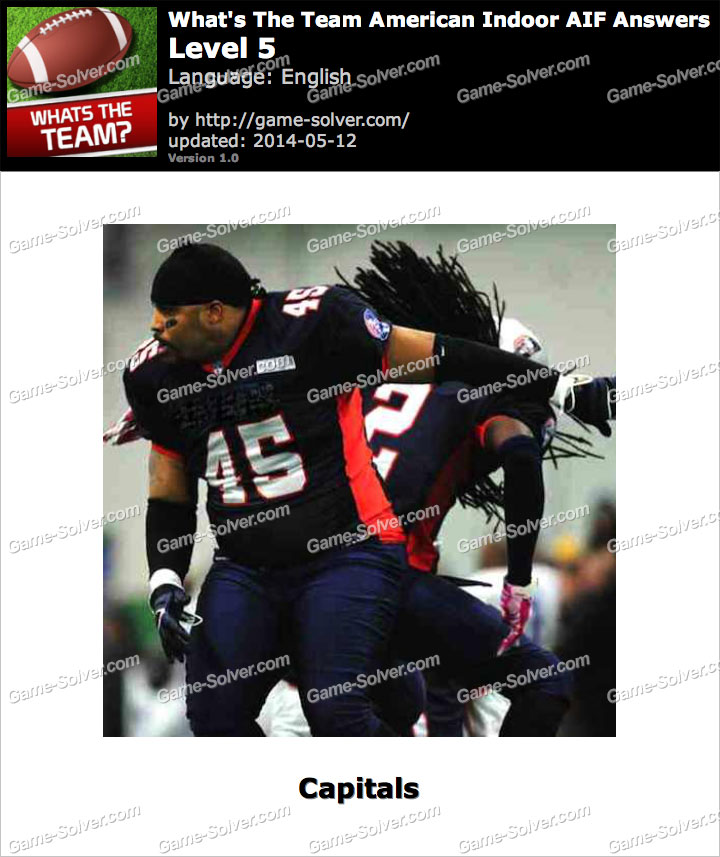 What's The Team American Indoor AIF Level 5