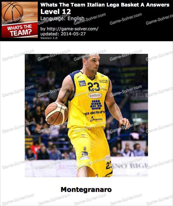 Whats The Team Italian Lega Basket A Level 12