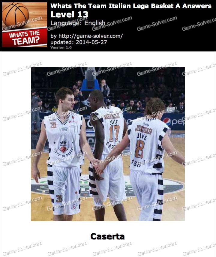 Whats The Team Italian Lega Basket A Level 13