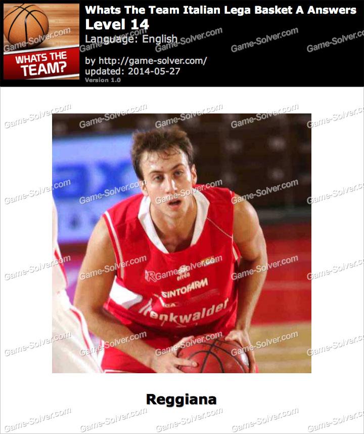 Whats The Team Italian Lega Basket A Level 14