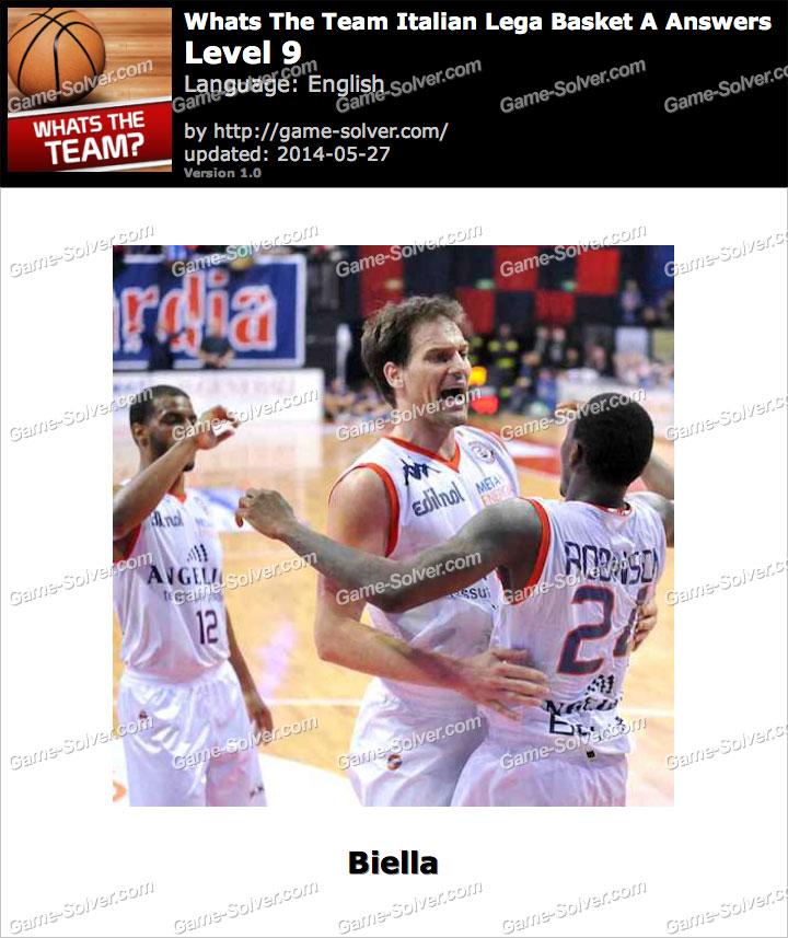 Whats The Team Italian Lega Basket A Level 9