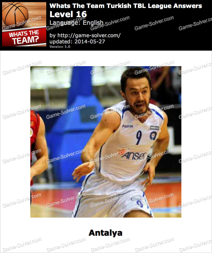 Whats The Team Turkish TBL League Level 16