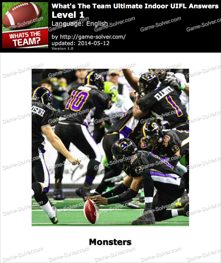 What's The Team Ultimate Indoor UIFL Level 1