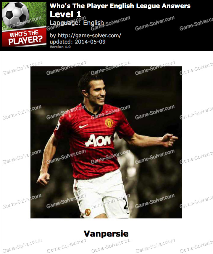 Who's The Player English League Level 1