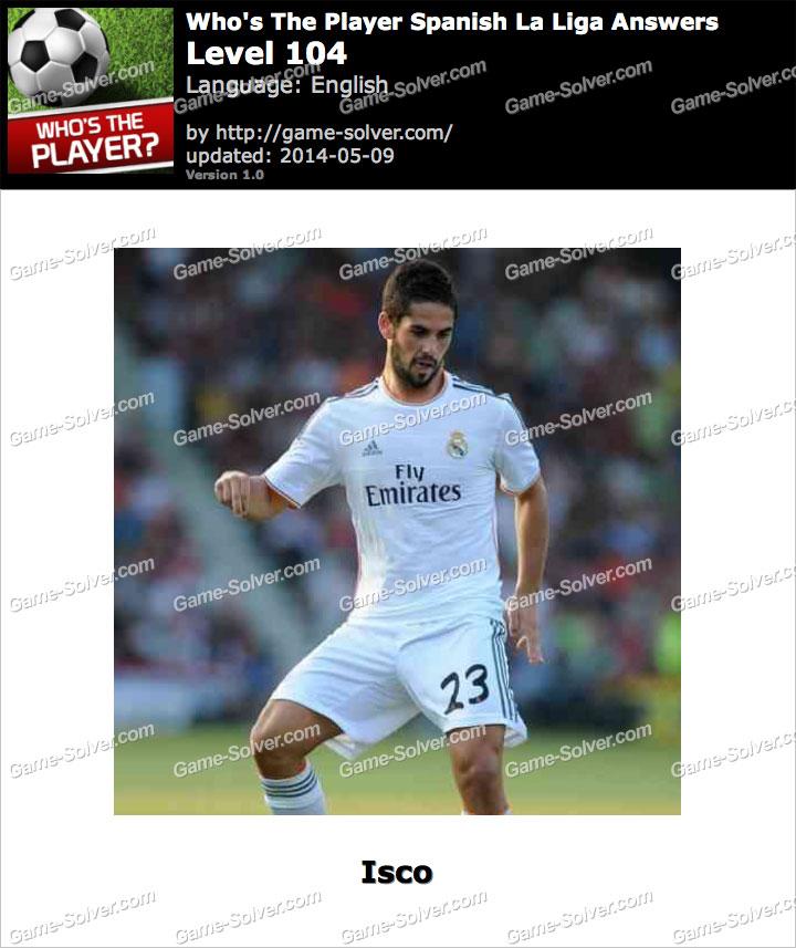 Who's The Player Spanish La Liga Level 104