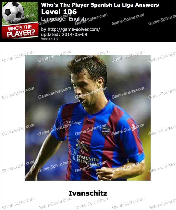 Who's The Player Spanish La Liga Level 106