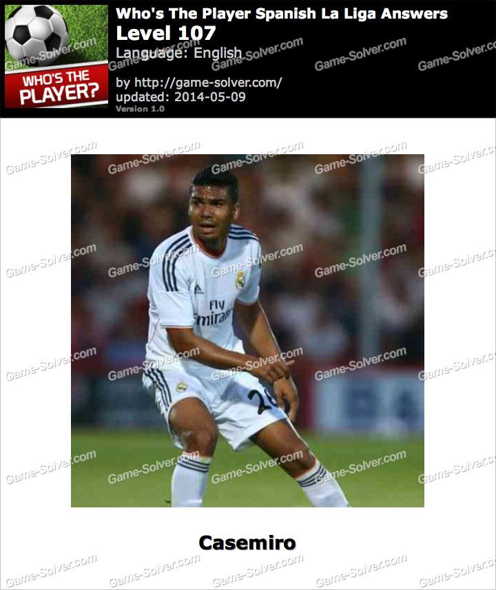 Who's The Player Spanish La Liga Level 107