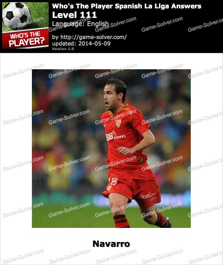 Who's The Player Spanish La Liga Level 111