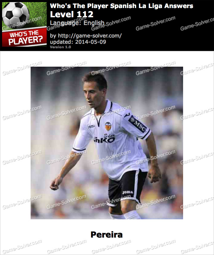 Who's The Player Spanish La Liga Level 112