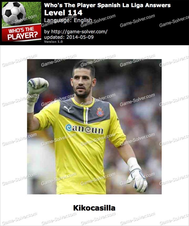 Who's The Player Spanish La Liga Level 114